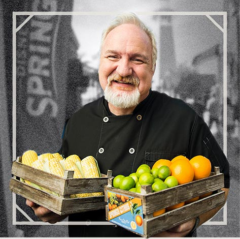 Chef Art Smith Holding Fresh Produce